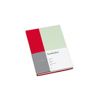 SEMIKOLON Carnet de notes A5 ligné - Cerise et pistache