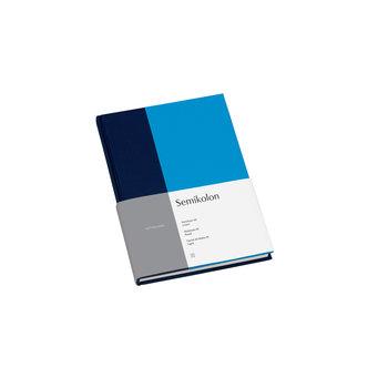 SEMIKOLON Carnet de notes A5 ligné - Marine et aqua