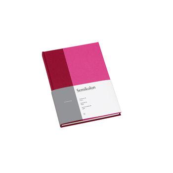SEMIKOLON Carnet de notes A5 ligné - Framboise et fuchsia