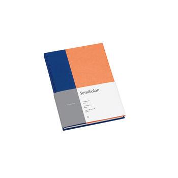 SEMIKOLON Carnet de notes A5 ligné - Cobalt et pêche
