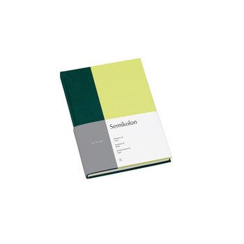 SEMIKOLON Carnet de notes A5 ligné - Vert forêt et kiwi