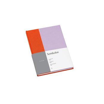 SEMIKOLON Carnet de notes A5 ligné - Mandarine et lavande