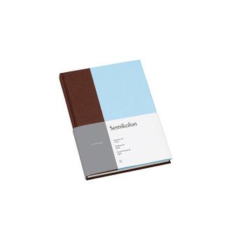 SEMIKOLON Carnet de notes A5 ligné - Pécan et bleu glacé