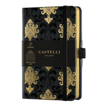 CASTELLI Carnet C&G format poche ligné Baroque Gold