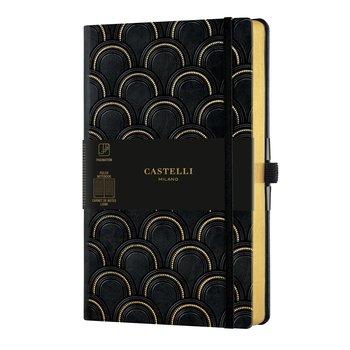 CASTELLI Carnet C&G grand format ligné Art Déco Gold