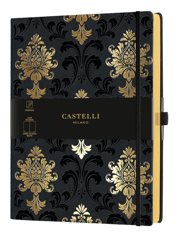 CASTELLI Carnet C&G très grand format uni Baroque Gold