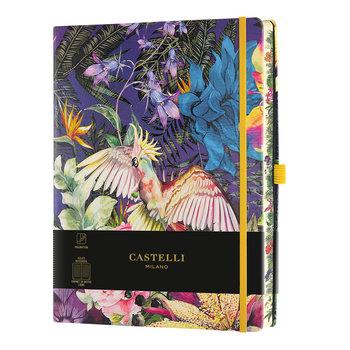 CASTELLI Carnet Eden très grand format ligné Cockatiel