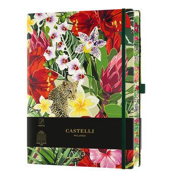 CASTELLI Carnet Eden très grand format ligné Léopard