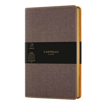 CASTELLI Carnet Harris grand format ligné Tobacco brown
