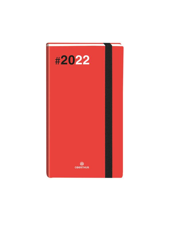 OBERTHUR Agenda civil Flex semainier horizontal 9x16,5cm Rouge