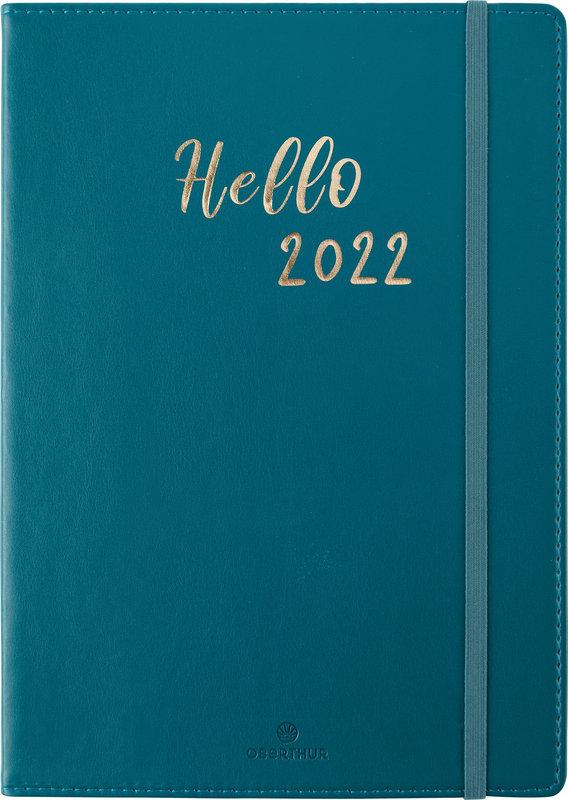 OBERTHUR Agenda civil My Hello Agenda semainier horizontal 15x21cm coloris aléatoires
