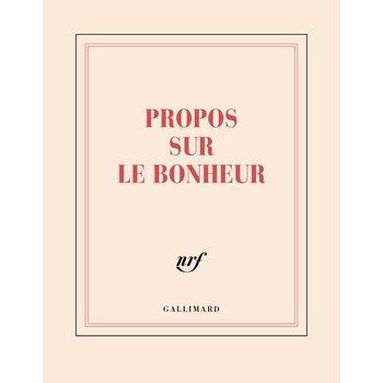 """GALLIMARD Carnet carré ligné """"PROPOS SUR LE BONHEUR"""""""