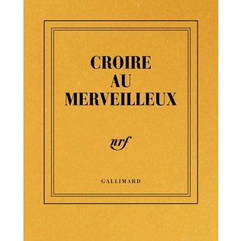 """GALLIMARD Carnet poche or ligné """"CROIRE AU MERVEILLEUX"""""""