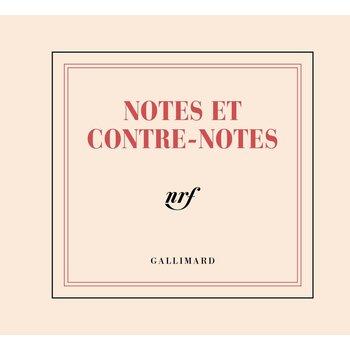 "GALLIMARD Mini-bloc ""NOTES ET CONTRE-NOTES"""