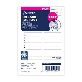 FILOFAX Recharge Pocket 2022 1 jour/page avec heures Français