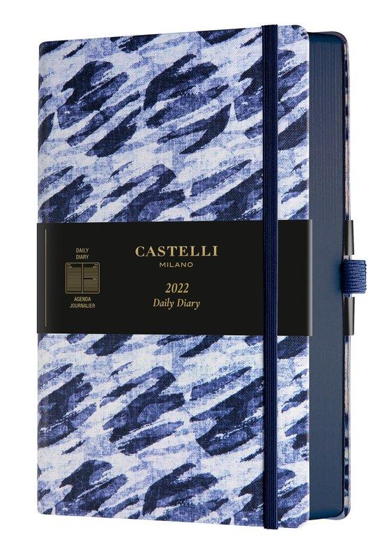 CASTELLI Agenda 2022 Journalier Grand Format Shibori Bubbles