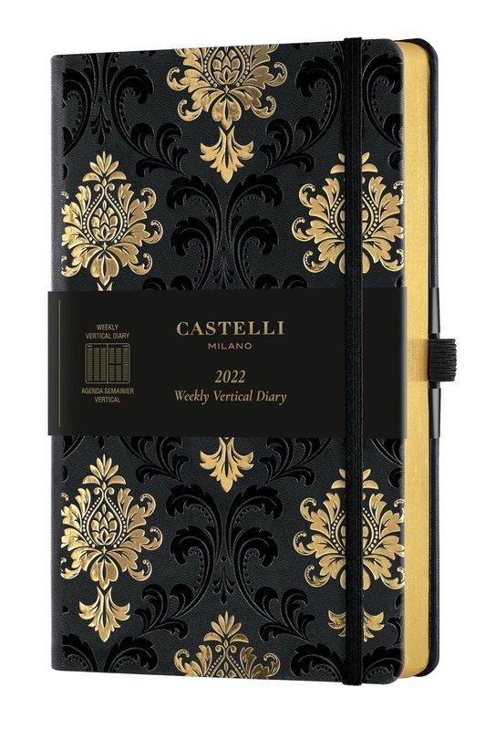 CASTELLI Agenda 2022 Semainier Vertical Grand Format C&G Baroque Gold