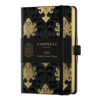 CASTELLI Agenda 2022 Semainier Vertical Poche C&G Baroque Gold