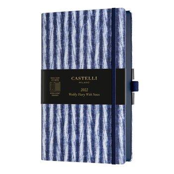 CASTELLI Agenda 2022 Semainier horizontal + notes Grand Format Shibori Twill