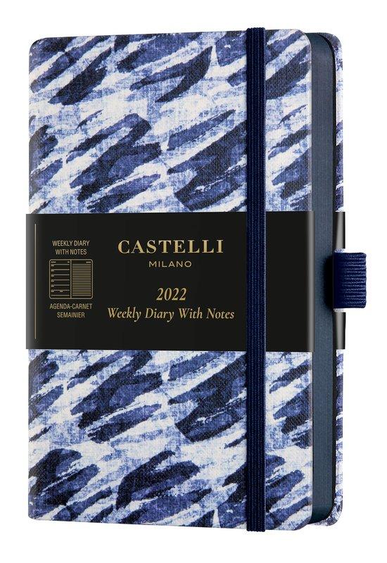 CASTELLI Agenda 2022 Semainier horizontal + notes Poche Shibori Bubbles