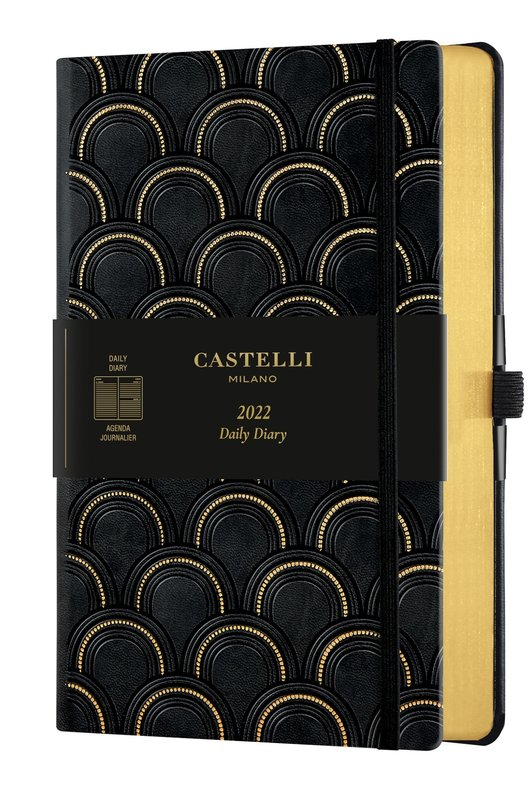 CASTELLI Agenda 2022 Journalier Grand Format C&G Art Deco Gold