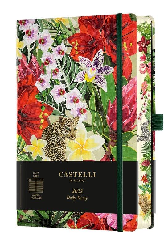 CASTELLI Agenda 2022 Journalier Grand Format Eden Leopard