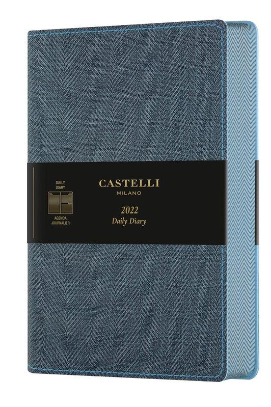 CASTELLI Agenda 2022 Journalier Grand Format Harris Slate Blue