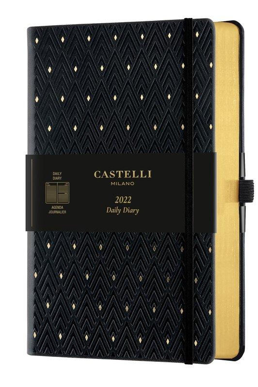 CASTELLI Agenda 2022 Journalier Grand Format C&G Diamonds Gold
