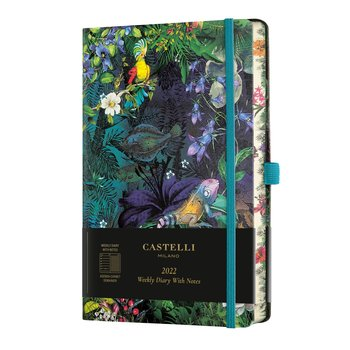 CASTELLI Agenda 2022 Semainier horizontal + notes Grand Format Eden Lily