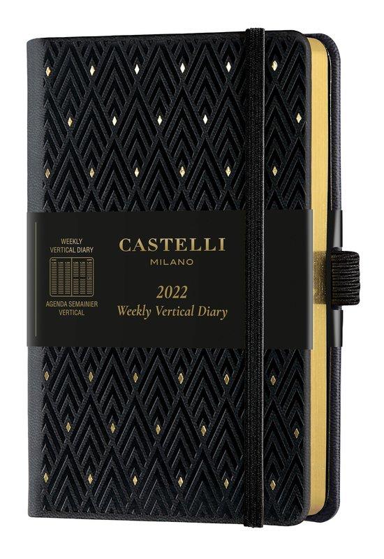CASTELLI Agenda 2022 Semainier Vertical Poche C&G Diamonds Gold