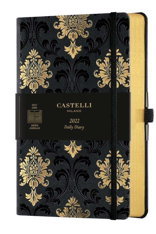 CASTELLI Agenda 2022 Journalier Grand Format C&G Baroque Gold