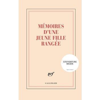 """GALLIMARD Grand carnet rigide ligné  """"MEMOIRES D'UNE JEUNE FILLE RANGEE"""""""