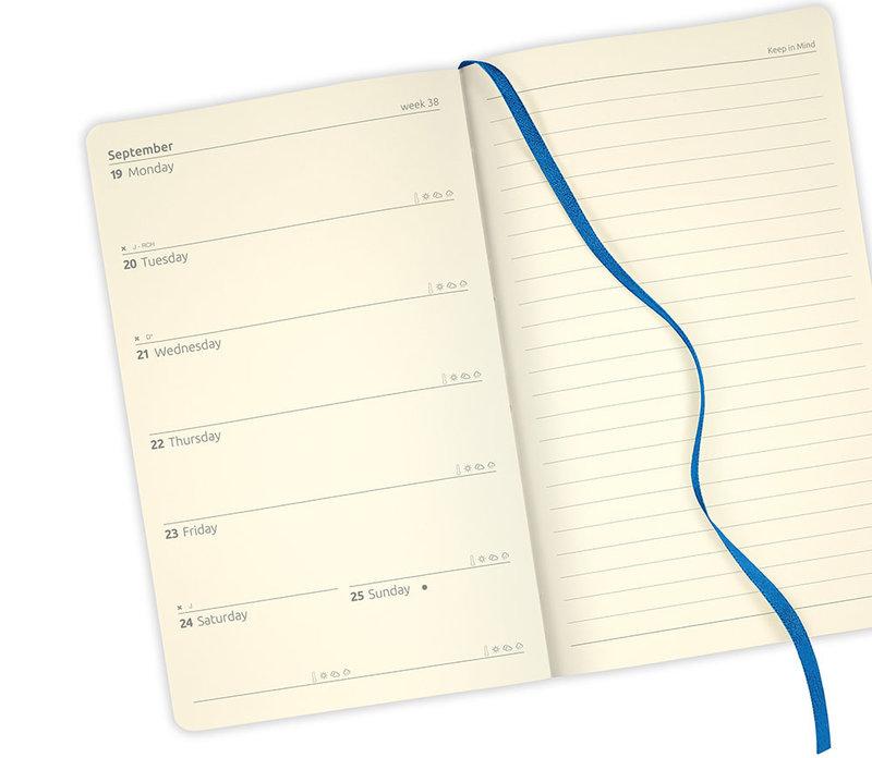 CASTELLI Agenda 2022 Semainier horizontal + notes Grand Format Shibori Jute