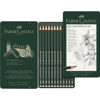 FABER CASTELL Crayon graph. Castell 9000 Art boîte métal 12x