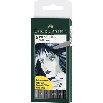 FABER CASTELL Feutres Pitt Artist Pen SB pochette x6