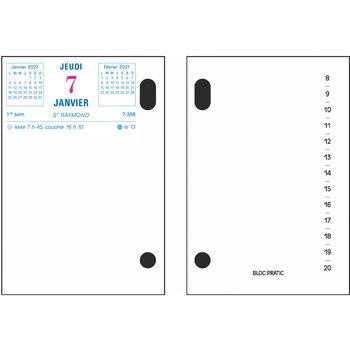 EXACOMPTA Bloc-pratic 8.2x12 date à gauche par 50