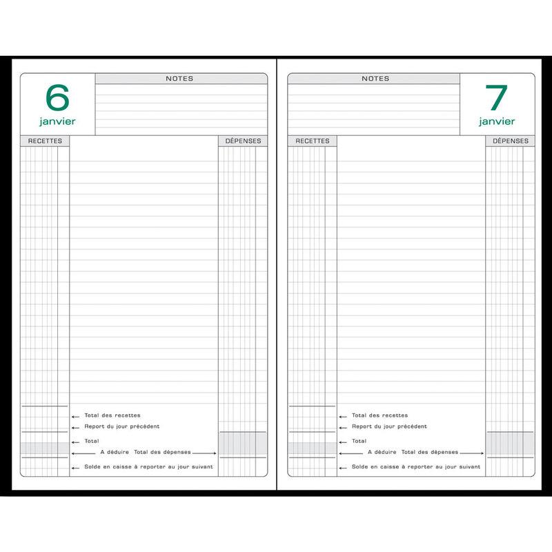 EXACOMPTA Agenda Civil bureau Perpétuel caisse 14,8x21cm coloris aléatoires