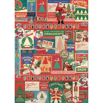 CAVALLINI Poster 50x70cm Vintage Sapin de Noël