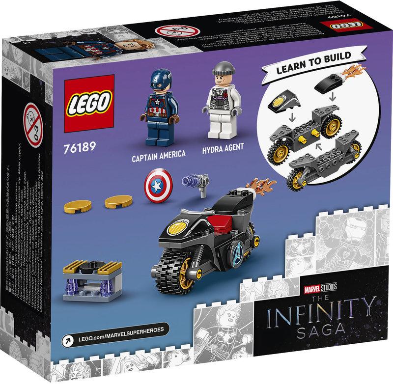 LEGO 76189 L'affrontement entre Captain America et Hydra