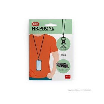 LEGAMI SOS - Support de téléphone tour de cou - noir