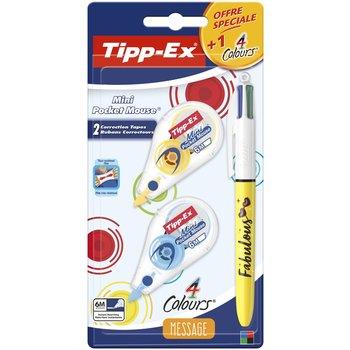 TIPP-EX Kit Message 3 Pièces (1 Stylo 4couleurs  Who's the Boss +2 correcteurs)