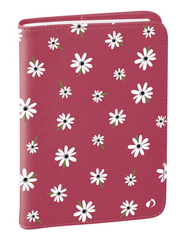 QUO VADIS Agenda Civil Affaires Bloom rep semainier 10x15cm marguerite rose