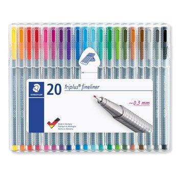 STAEDTLER triplus® fineliner 334 - Etui chevalet STAEDTLER® box 20 feutres pointe superfine 0,3 mm assortis