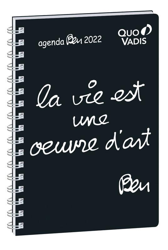 QUO VADIS Agenda Civil Affaires Ben S semainier 10x15cm La vie est une oeuvre