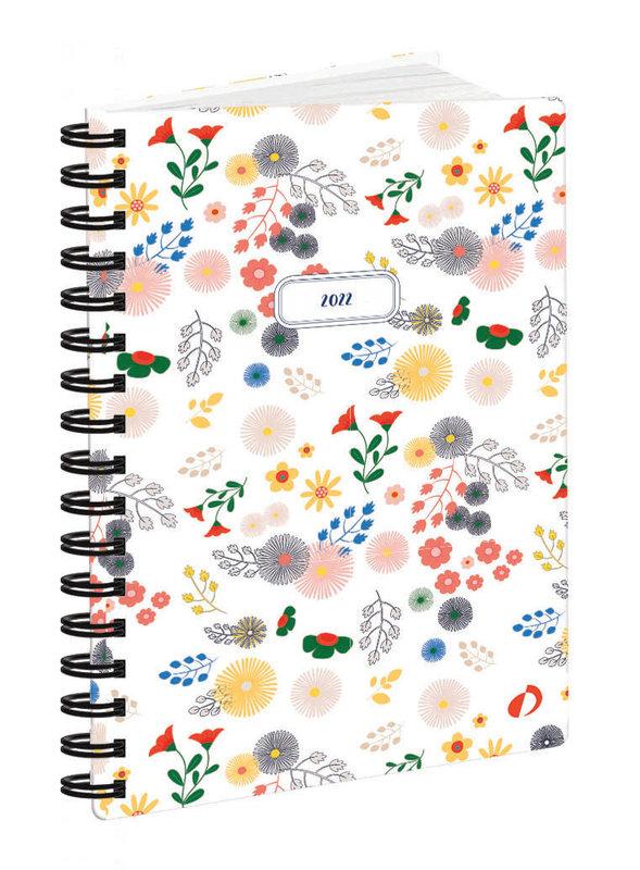 QUO VADIS Agenda Civil Affaires Daisy S semainier 10x15cm blanc