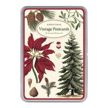 CAVALLINI Set de 12 Cartes Postales Vintage Christmas Botanica