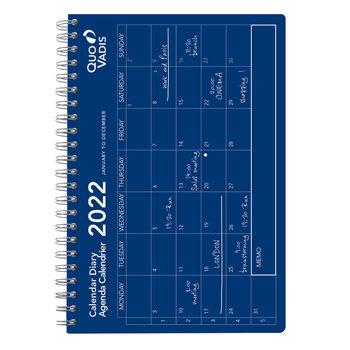 QUO VADIS Calendrier Oslo mensuel 12x17cm  bleu