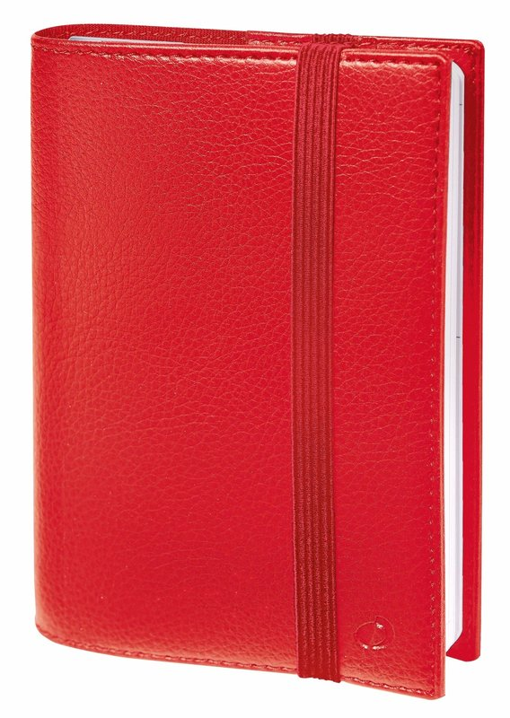 QUO VADIS Agenda Civil Time&life semainier 16x24cm rouge élastique