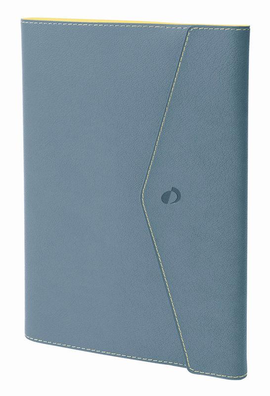 QUO VADIS Agenda Civil Affaires Clover Toscana rep semainier 10x15cm Bleu aqua