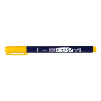 TOMBOW WS-BH03 Feutre brush Fudenosuke, pointe dure, jaune